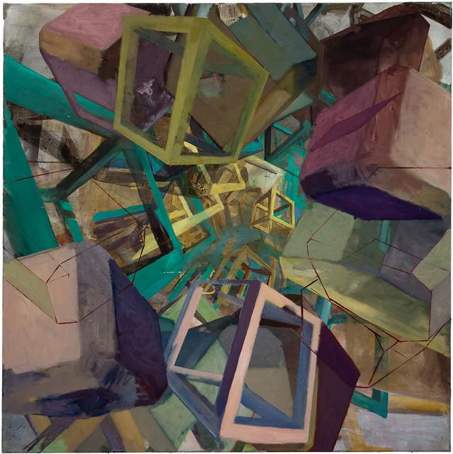 Cister, 120 x 120 cm, Acryl auf Nessel, 2009