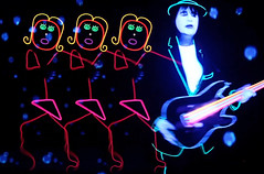 Neon Girls & Guitar (Pennan_Brae) Tags: neon musicvideo timcash pennanbrae glowsuits farfromearthfilms