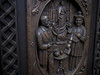 15 Dec 12 Bronze Carving - Papal (ethanbeute) Tags: door sculpture newmexico santafe bronze catholic cathedral basilica carving stfrancis assisi saintfrancis stfrancisofassisi