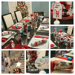 PicMonkey Collage (mona_kiriakopoulos) Tags: christmas red holiday tree dinner festive christmastree ornaments decor tablesetting homedecor holidaydecor holidaytable christmastablesetting
