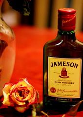 My Wild Irish Rose (baltoskins) Tags: pink ireland wild stilllife irish white flower color green rose closeup john 50mm lyrics bokeh song whiskey alcohol jameson aroundthehouse chaunceyolcott