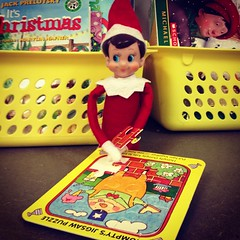 (courtneyureel) Tags: christmas school holiday chicago december puzzle elf teaching 2012 elfontheshelf uploaded:by=flickrmobile flickriosapp:filter=nofilter
