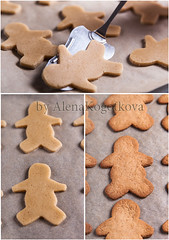 Preparing Gingerbread Men (AlenaKogotkova) Tags: cooking dough gingerbread baked gingerbreadmen