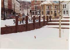 RONDOUT NY IN 1985 (richie 59) Tags: park street city trees winter urban usa snow streets building cars film america buildings bench outside us downtown unitedstates steps oldbuildings historic sidewalk kingston vehicles newyorkstate oldpictures parkbench benches 1980s 1985 oldcars sidewalks oldpicture oldbuilding automobiles brickbuilding olddays nystate americancars hudsonvalley citystreet kingstonny urbanpark rondout historicbuildings motorvehicles ulstercounty smallcity oldbrickbuildings uscars midhudsonvalley americancity oldbrickbuilding ulstercountyny americanbuilding downtownkingston feb1985 picturescan americanbuildings richie59 downtownkingstonny feb31985 rondoutny old35mmpictures