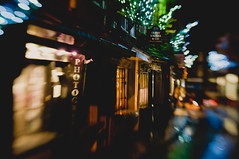 The Shambles (MMortAH) Tags: christmas york xmas night lensbaby lights nikon bokeh yorkshire north explore shambles composer d90