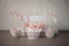 Pink Ruffles Wedding Cupcakes (www.jellycake.co.uk) Tags: pink wedding roses cake hearts ruffles cupcake wiltshire pops jellycake wwwjellycakecouk