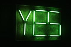 YES! (jepoirrier) Tags: green church neon yes brugge bruges kerk magdalena heilige sooc