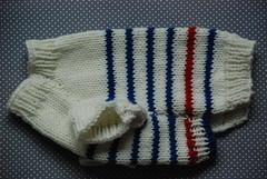 Jersey marinero con rayas azules (Buen perrito) Tags: wool sweater merino suter sweaterfordog jerseyparaperro