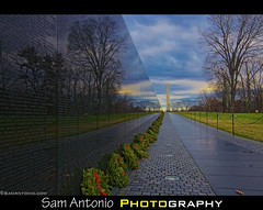 Reflecting on the Past, Remembering our Veterans, Honoring their Service (Sam Antonio Photography) Tags: christmas usa reflection monument horizontal wall sunrise outdoors photography washingtondc memorial war respect military text memories nopeople historic event wreath obelisk marble washingtonmonument nationalparkservice patriotism footpath thepast baretree floodlight vietnamveteransmemorial topics adornment postwar concepts vietnamwar tranquilscene vietnamveterans capitalcities traveldestinations colorimage diminishingperspective americanculture buildingfeature nationallandmark vietnamveteranswarmemorial surroundingwall artscultureandentertainment wreathsacrossamerica canoneos5dmarkii december2012 historicworldevent positiveemotion samantonio layingwreath washingtondcwinter samantoniophotography photographingwashingtondc washingtondcphotolocations