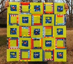 Finished Pirate Baby Quilt Top (giddy99) Tags: logcabin pirate block timelesstreasures pieced babyquilt redpepperquilts