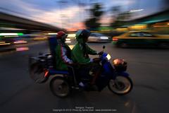 Riders - Bangkok (Danial Shah) Tags: streets green thailand twilight traffic bangkok busy motorcycle panning panned