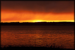 The Sun Sets On Another Year (Loops666) Tags: light sunset red orange sun water bay georgianbay cottagecountry shore happynewyear 2012 2013