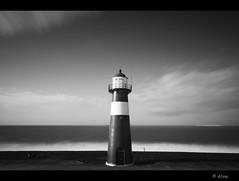 Looking at (Just me, Aline) Tags: sea blackandwhite bw lighthouse holland netherlands waves nederland zee le vuurtoren westkapelle d800 zw golven leefilters bigstopper 6ndgh