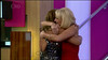 .Gillian Taylforth and Tricia Penrose are seen hugging as they enter the house on 'Celebrity Big Brother' Shown on Channel 5 HD England
