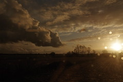 cloud2 (lux fecit) Tags: sunset cloud sun train landscape countryside brittany tgv counterlight saintmaloparis