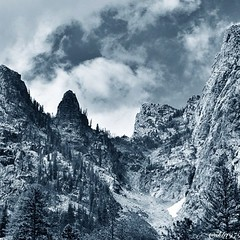 Tetons (ScrappyKitty79) Tags: blackandwhite nature beautiful landscape tetons naturephotography grandtetonnationalpark travelphotography streamzoo