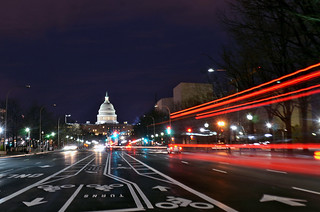 Pennsylvania Avenue Light Trails, Washington D.C.