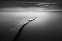 Dublin bay (.Rohan) Tags: longexposure blackandwhite dublin bay fineart baths dunlaoghaire seacape irealnd bwnd110