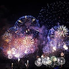 New Years Eve 2013 (happyluvsme) Tags: blue light colors beautiful square lights hotel colorful dubai fireworks uae lofi atlantis squareformat unitedarabemirates dxb atlantishotel jumeirapalm palmjumeriah jumeirapalmisland iphoneography instagramapp uploaded:by=instagram jumierahpalm uploaded:by=flickrmobile