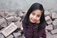 Tahiya - VIII (Russell John) Tags: red portrait home girl 50mm kid child dhaka lipstick roofop portrature dhanmondi 450d tahiya russelljohn