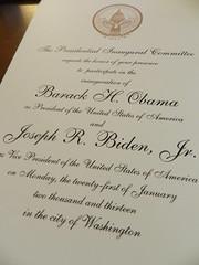 inauguration invitation (pompomflipflop) Tags: invitation obama inauguration 2013