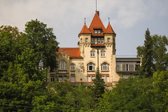 Tuebingen (villy_yovcheva) Tags: old travel vacation mountain holiday building tree green tower castle history tourism nature stone wall architecture forest germany landscape outside countryside ruins scenery europe exterior view place fort outdoor traditional horizon hill sightseeing landmark scene tourist medieval historic fairy knight aged fortification chateau past bastion fortress defense excursion lichtenstein