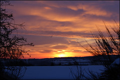 Sunrise over Hookergate, High Spen, Rowlands Gill (mandyhedley) Tags: snow storm clouds sunrise countryside derwent gateshead valley serene gill rowlands