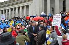 Governor Inslee with members of the Children's Alliance
