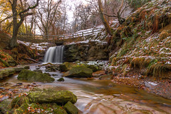 Blow Gill Waterfall...IMG_8298.jpg (Katybun of Beverley) Tags: uk longexposure trees winter snow landscape waterfall rocks yorkshiremoors hawnby blowgillwaterfall