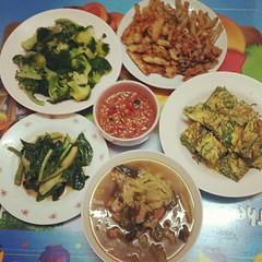 ทำกับข้าวเสดแล้วววว #มื้อเย็น #ทำอาหาร #ทำเองกะมือ