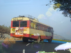 Chasing the queen of Ghats-3. (Ram@WesternMaharashtra) Tags: ashokleyland msrtc semiluxury