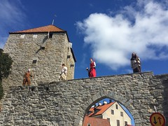 Archers on the medieval walls (radiowood) Tags: kruttornet walls ringmuren archers inauguration parade gotland visby medieval