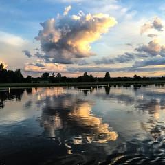 on the stream (the-father) Tags: sky cloud river germany bayern bavaria stream danube iphone crystalprincess kristallprinzessin