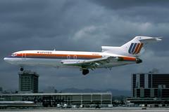 N7021U-1-KLAX-APR1988 (Alpha Mike Aviation Photography) Tags: united airlines boeing 727 n7021u losangeles lax klax