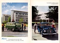 1956 Goliath Express Bus & Sedan (aldenjewell) Tags: 1956 goliath express bus 900 sedan deluxe brochure