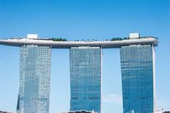 My view (butskibutong) Tags: sky blue singapore marina bay merlion