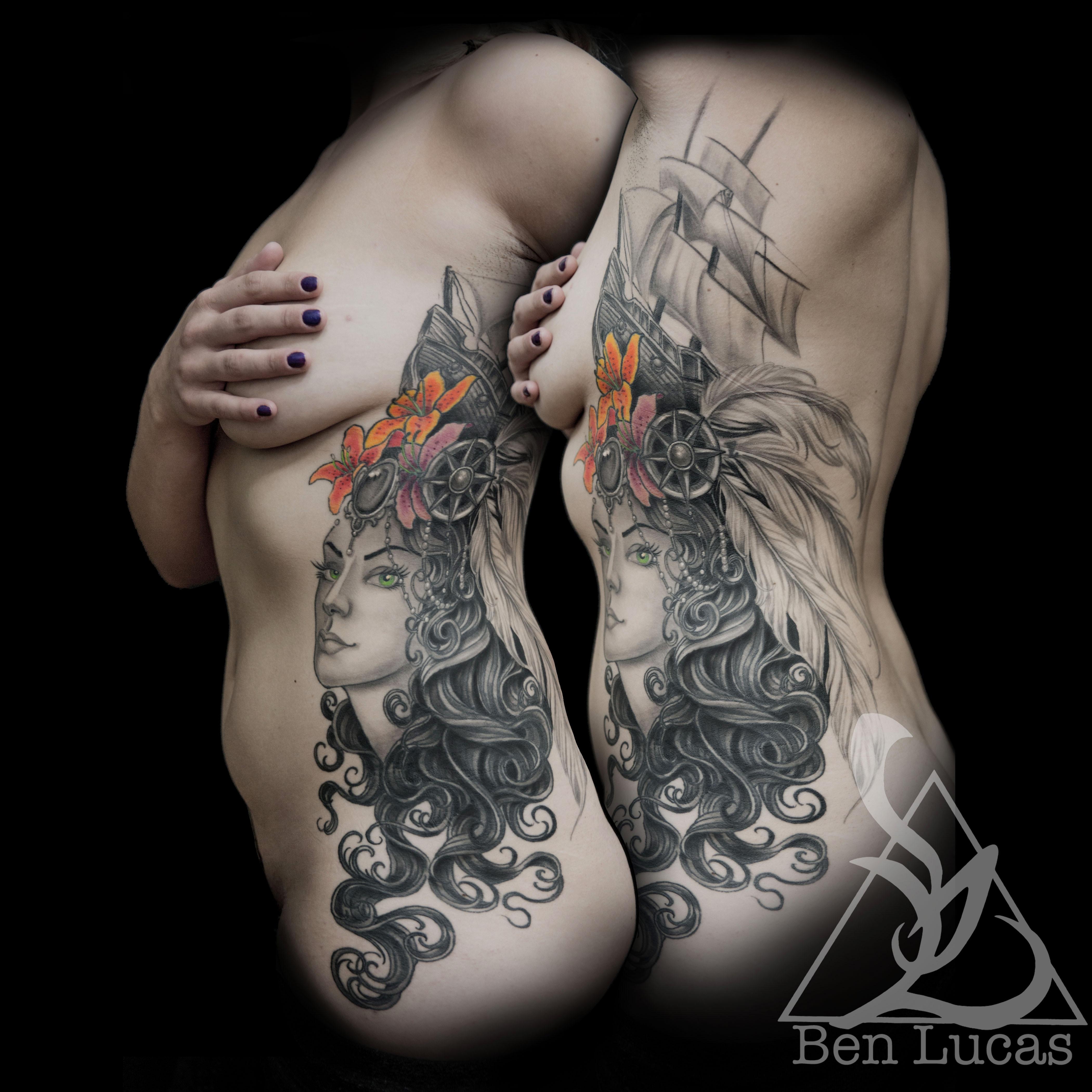 b6db85d86 ... Ashleys-Marie-Antoinette-stargazer-tiger-lily-side-tattoo- ...
