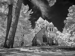 P9050325 - Anderson Chapel (Syed HJ) Tags: olympusomdem5 olympusem5 olympus em5 olympusmzuikodigitaled1442mmf3556iir olympusmzuiko1442mmf3556 olympus1442mmf3556 olympus1442mm 1442mm infrared 950nm blackandwhite blackwhite bw edgewoodcemeterynashuanh edgewoodcemetery nashuanh cemetery nashua nh chapel andersonchapel
