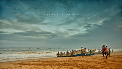 Fishermen (aakash7.prakash) Tags: fishermen trivandrum india incredibleindia incredibile kerala godsowncountry morning coldmorning beautiful beach boat sea arabiansea fishing fishingboat nikon nikonphotography photooftheday picoftheday flickrphotographers flickr clouds sky travel places explore exploration filters