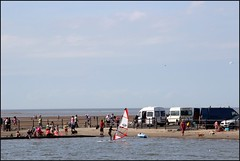 West Kirby Wirral  230816 (27) (over 4 million views thank you) Tags: westkirby wirral lizcallan lizcallanphotography sea seaside beach sand sandy boats water islands people ben bordercollie dog beaches reflections canoes rocks causeway yachts outside landscape seascape