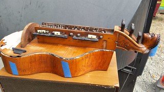 Unknown musical instrument dropped off at Galiano recycling
