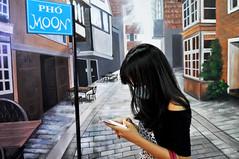 Lost in the village (Roving I) Tags: smartphones lost longhair girls villages murals art phomoon cafes danang vietnam streets