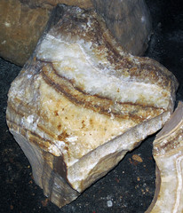 Travertine speleothem cross-section (Luray Caverns, Luray, Virginia, USA) 2 (James St. John) Tags: cave caves luray caverns virginia travertine speleothem crosssection cross section