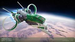 Parakeet | ECM Cruiser (Brixnspace) Tags: shiptember ship parakeet green spaceship space spacescene cruiser battlecruiser minifig figsized scrambler