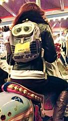 (disneyred) Tags: california southerncalifornia disney disneyland anaheim outdoor color carousel carouselhorse kingarthurcarousel walle girl people back saddle bells umbrella marypoppins julieandrews jingles