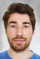 Freckled (Raceforthefishman) Tags: freckles freckled man male portrait photoshop beard ginger brown hair face eyes