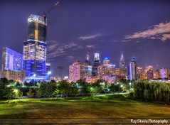 Center City (Ray Skwire) Tags: pa philly philadelphia 215 universitycity centercity southstreet pennfields night hdr brackets urban skyscrapers construction architecture