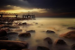 The end of summer (Anto Camacho) Tags: valencia valenciancommunity chilches biggstopper longexposure rocks pier seascape landscape sky clouds xilxes waterscape