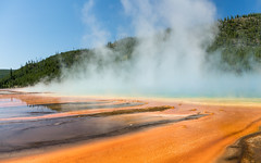 Steaming Grand Prismatic Spring (Morten Kirk) Tags: mortenkirk morten kirk yellowstone national park ynp wyoming usa 2016 travel holiday vacation nature sony a7rii a7r ii sonya7rii ilce7rm2 zeiss sonnar t fe 35mm f28 za sonnartfe2835za sel35f28z grand prismatic spring midway geyser basin