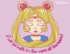 Sailor Moon (Utopic duality) Tags: inthenameofthemoon digital digitalart digitalillustration usagi sailormoon blond gotohell andygraves